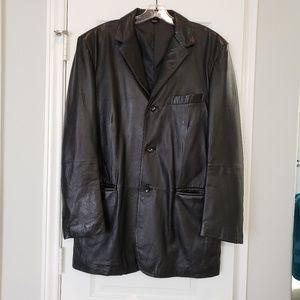 Mens J Ferrar Genuine Leather Jacket